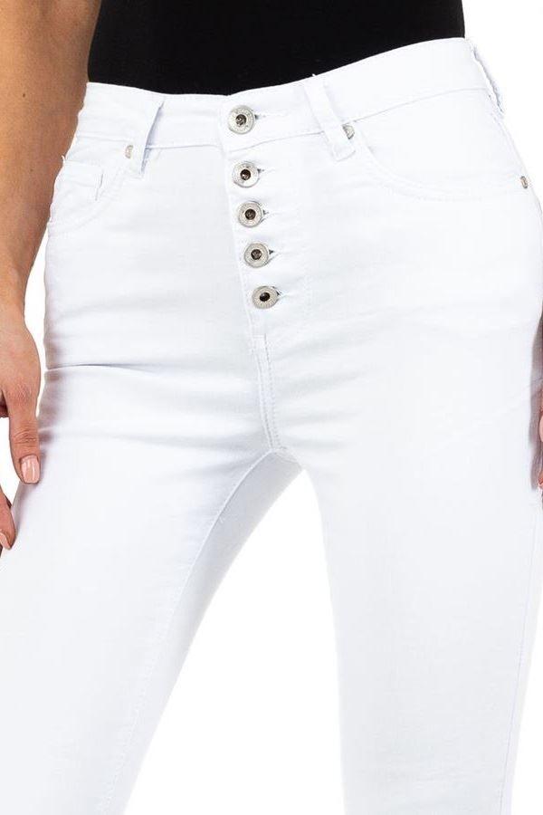 τζιν παντελόνι εφαρμοστό άσπρο.