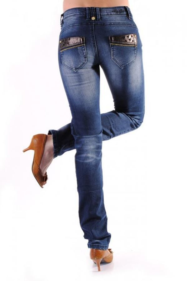 PANTS JEAN DECORATION BLUE FRA20781