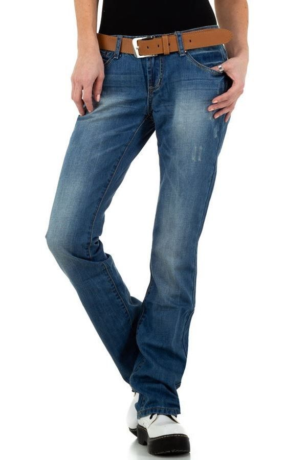 τζιν παντελόνι καμπάνα φαρδύ μπλε.