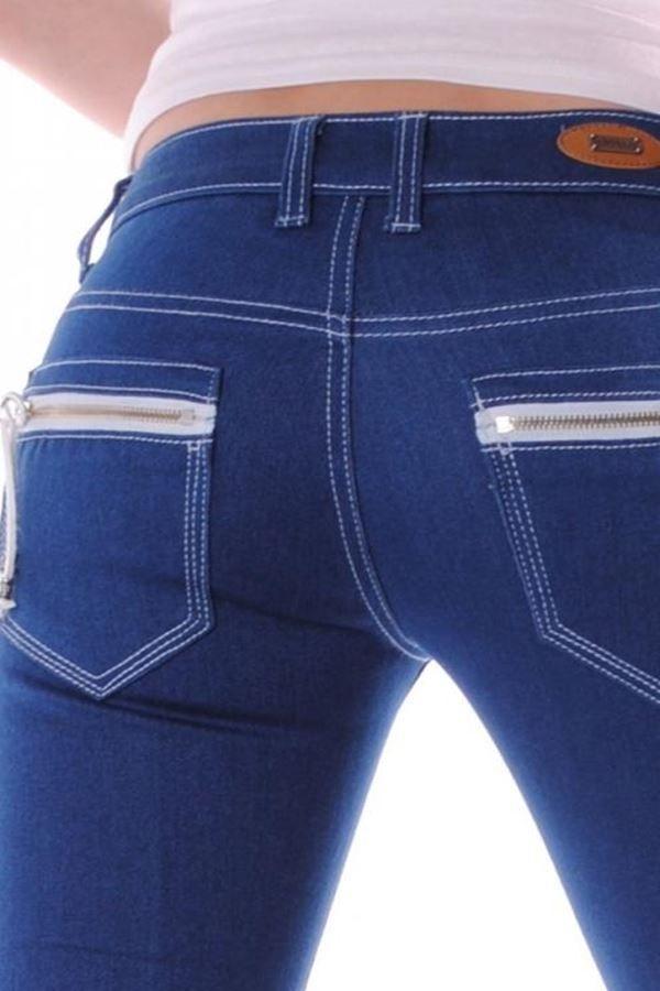 καλοκαιρινό τζιν παντελόνι μπλε