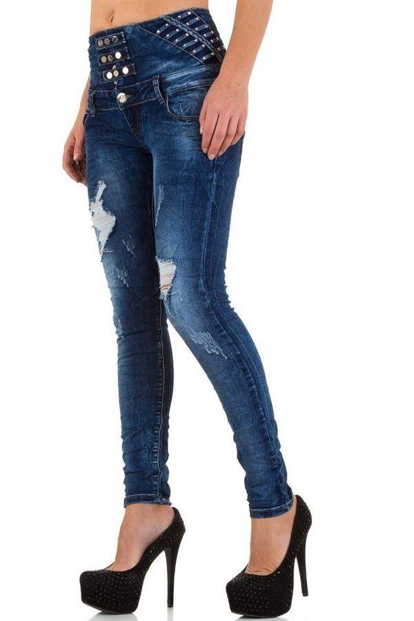 pants jean high waist blue.
