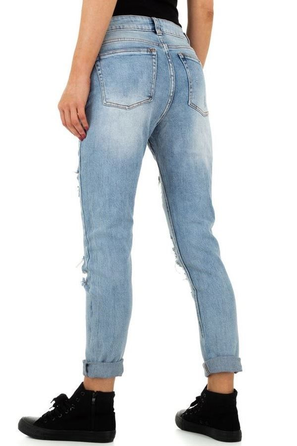 PANTS JEAN HIGH CROTCH CUTOUTS FADED BLUE FSWP07111
