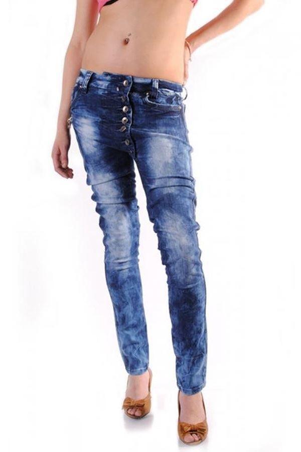 τζιν παντελόνι βράκα μπλε