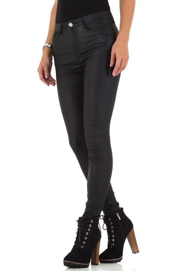 εντυπωσιακό wet look μαύρο παντελόνι.