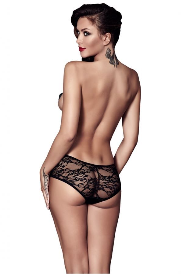 PANTIES BRIEF LACE BLACK ANCAR