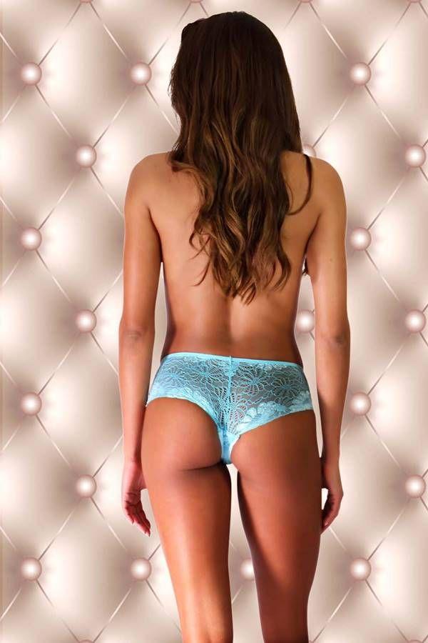 panty slip lace turquoise.
