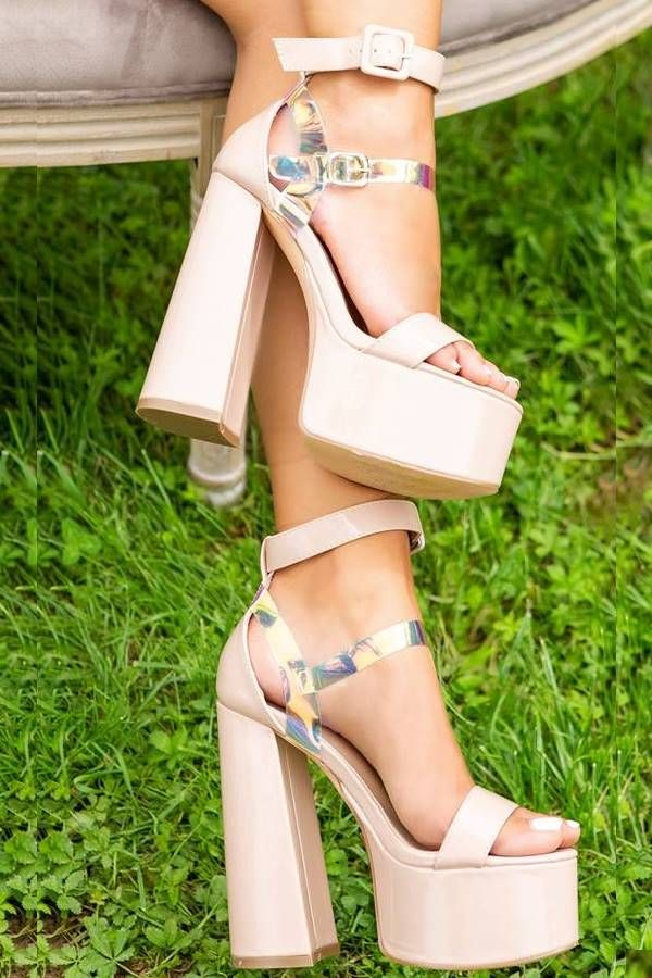 Sandals High Heels Evening Straps Pink ISDH92121854