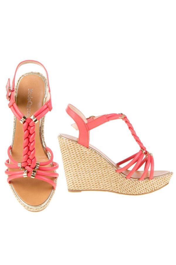 SANDAL PLATFORM GOLD DECORATION FUCHSIA SW1193