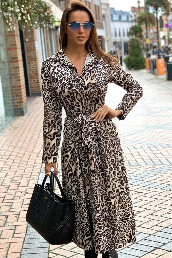 SHIRT LONG DRESS LEOPARD CAT20WSTEL