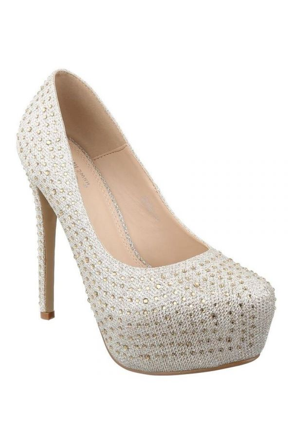 PSW10520 PUMP BRIDAL STRASS GOLD