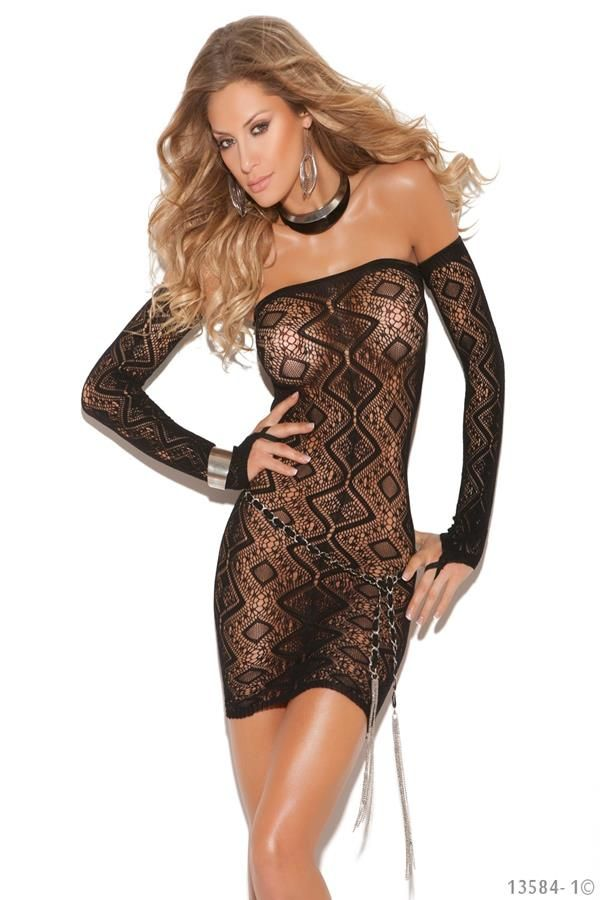 Q1613584 LEG AVENUE TRANSPARED DRESS