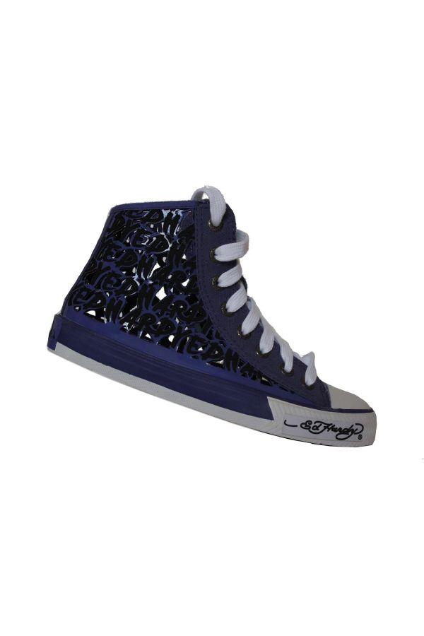 ed hardy original athletic sport shoe sneaker blue white
