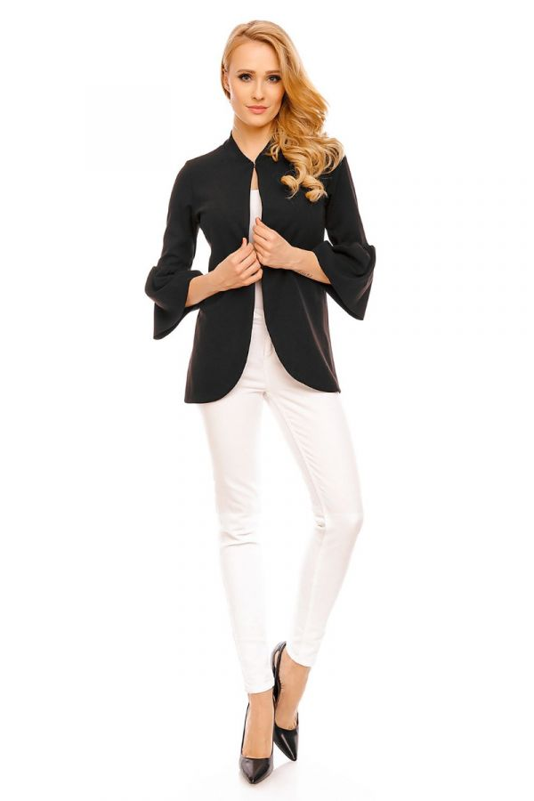 blazer classic stand up collar black.