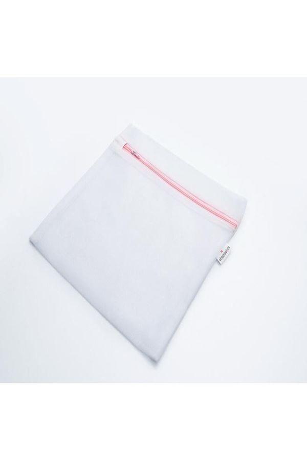 άσπρος σάκος πλυσίματος πλυντηρίου για ευαίσθητα ρούχα