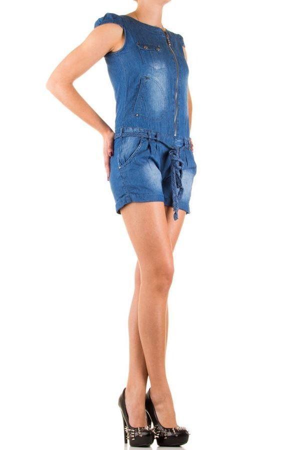 σαλοπέτα τζιν μπλε κοντό παντελόνι φερμουάρ