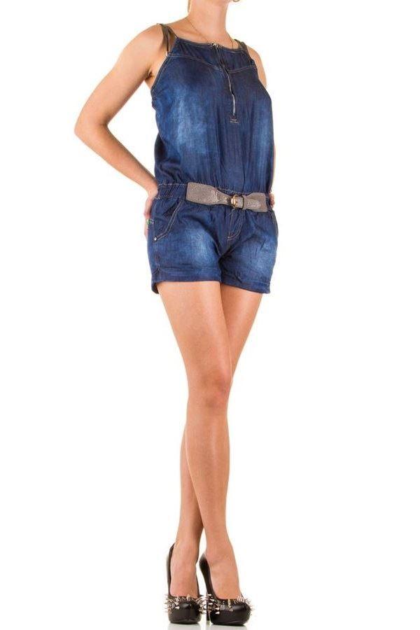 σαλοπετα τζιν μπλε κοντό παντελόνι ζώνη