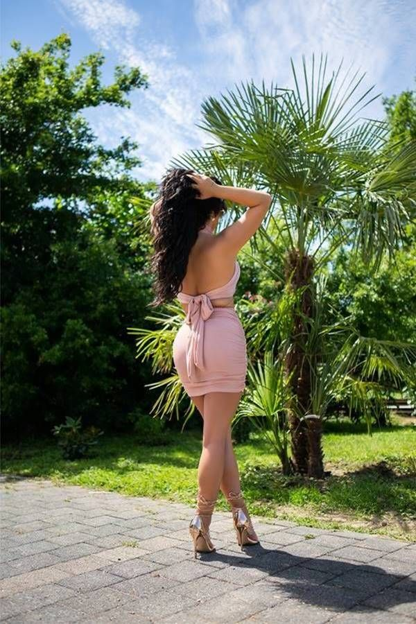 Set Sexy Skirt Crop Top Pink ISDK881857