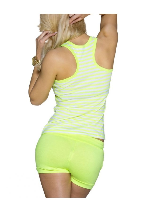 SET SHORTS TOP WHITE YELLOW Q2021932