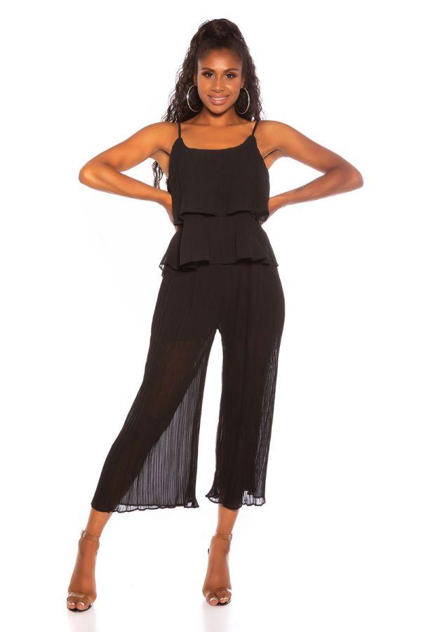 σετ παντελόνι κοντό τοπ μαύρο.