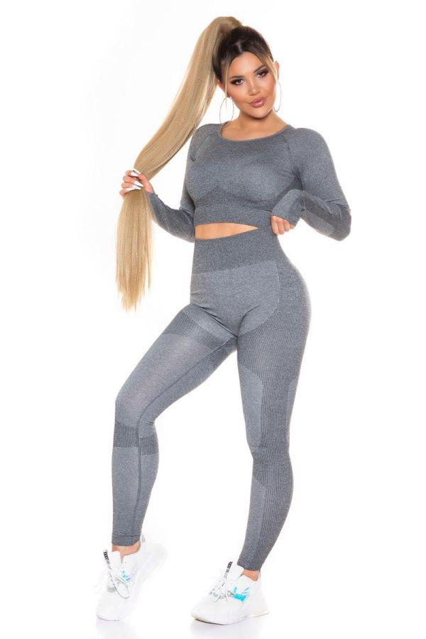 set gym top leggings highwaist dark grey.