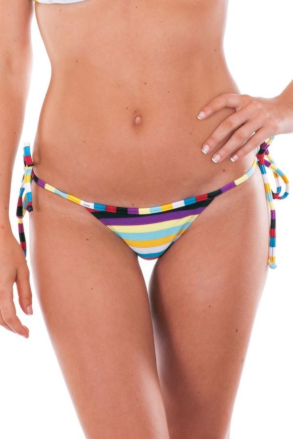 MICRO THONG SWIMWEAR BOTTOM STRIPED MULTICOLORED BR19810952873