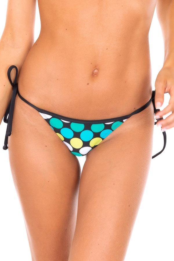 THONG SWIMWEAR BOTTOM POLKA DOTS MULTICOLOR BR19810965262