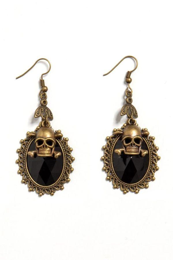 EARRINGS GOTHIC BLACK GOLG DAT1914338