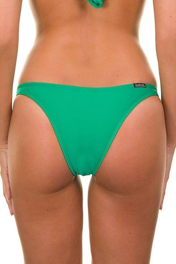brazilian swimsuit bottom brief decoration green.