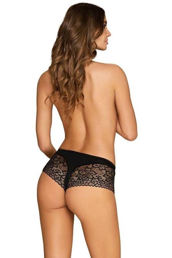 Panties Shorts Floral Lace Black DRED229373