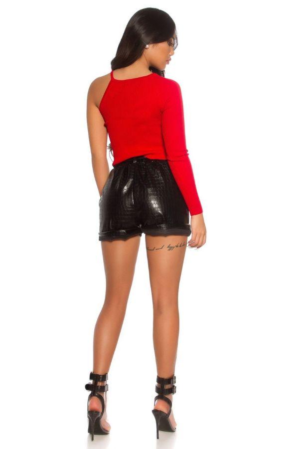 shorts sexy croco leatherette black.