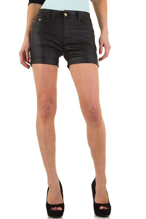 SHORTS LEATHERETTE BLACK FSWD5532