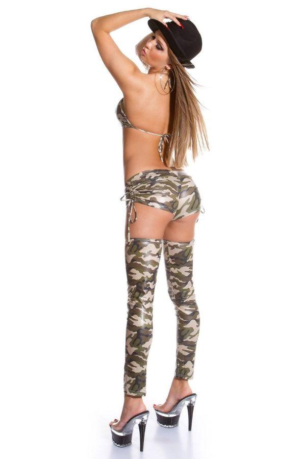 Top Gogo Sexy Wetlook Camouflage ISDBH6940