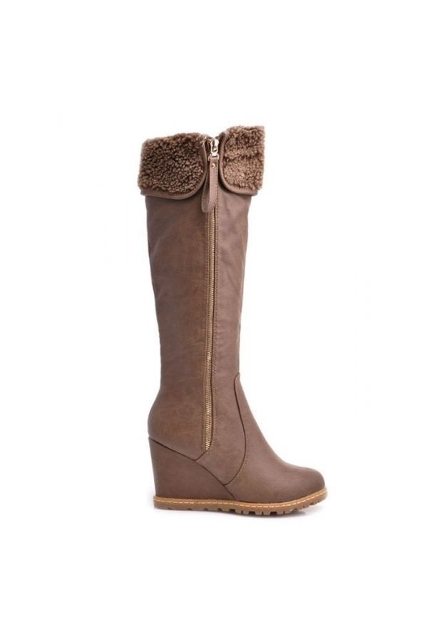 SP31159 BOOT PLATFORM BROWN