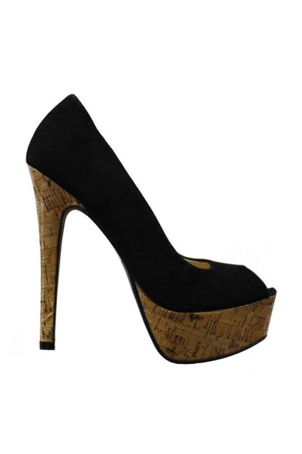 SP4115 PEEP TOE SUEDE BLACK