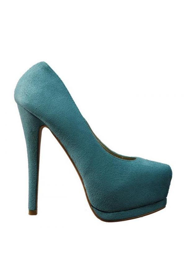 SP615 PUMP SUEDE TURQUOISE