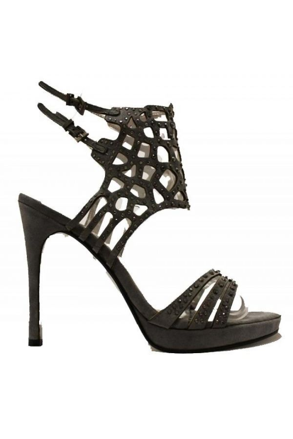 SS55313 SANDAL SUEDE STRASS GREY