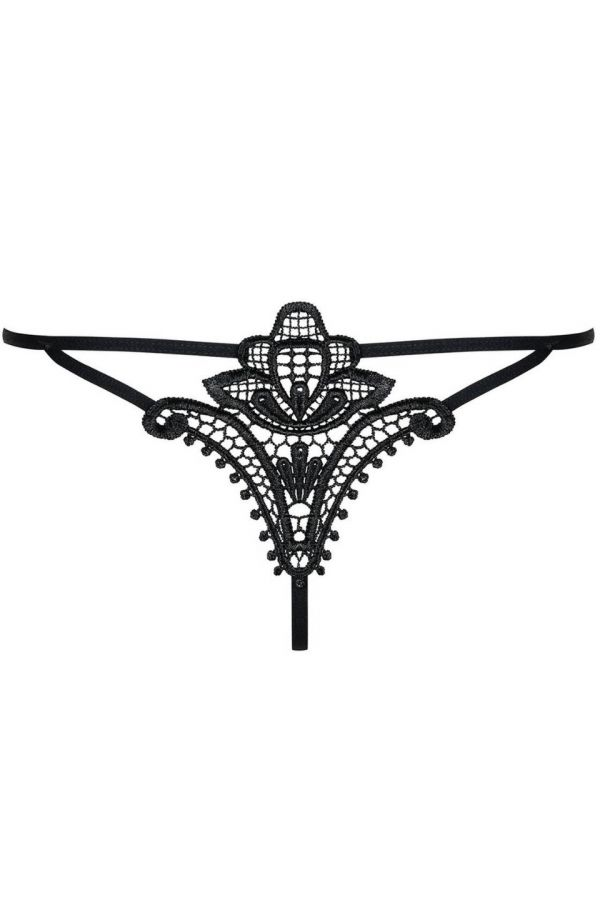 string slip lingerie embroidery lace black.