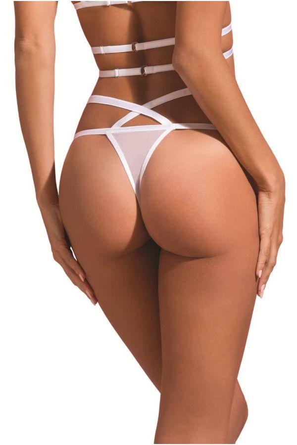 string sexy slip lingerie straps white.