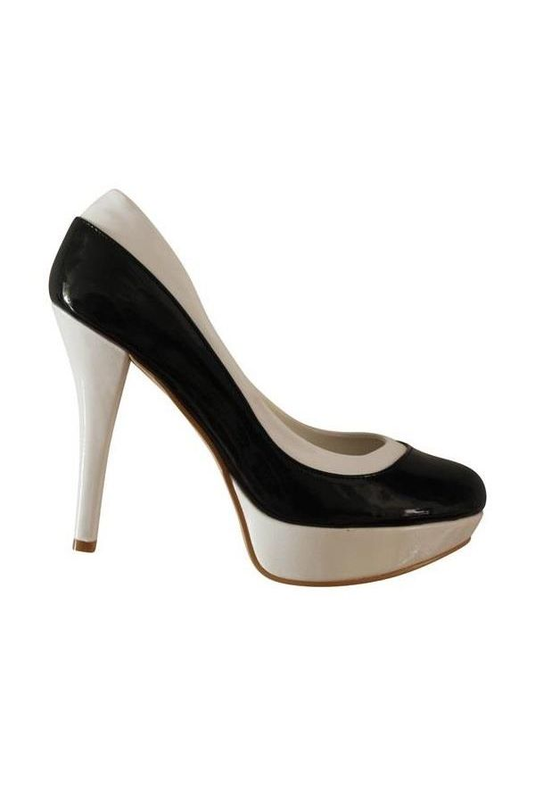 SU130 PUMP PATENT BLACK WHITE