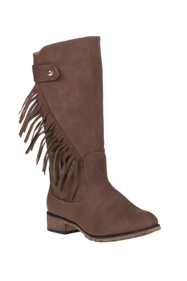 SW28361 BOOT FRINGES BROWN