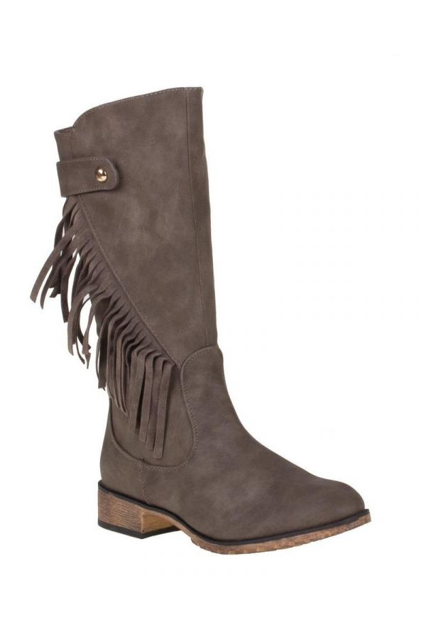 SW28361 BOOT FRINGES BEIGE