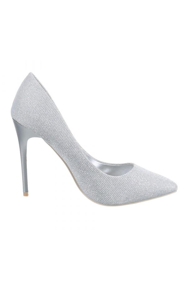 SW501512 PUMP POINTED SATIN SILVER