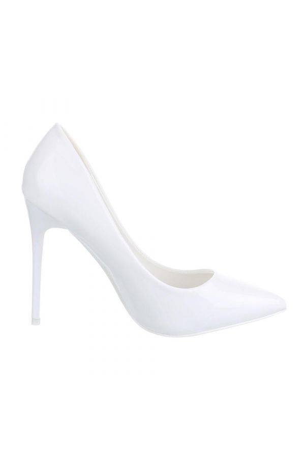 SW501523 PUMP POINTED PATENT WHITE