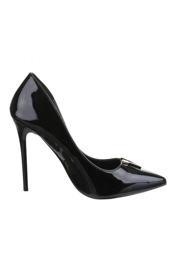 SW501542 PUMP POINTED PATENT BLACK
