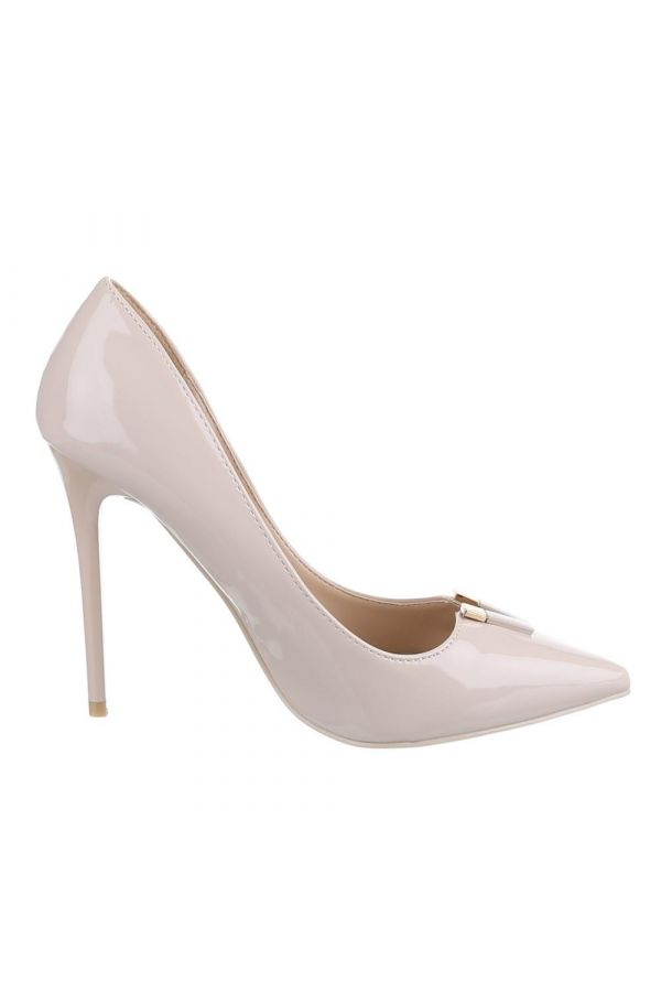 SW501542 PUMP POINTED PATENT BEIGE