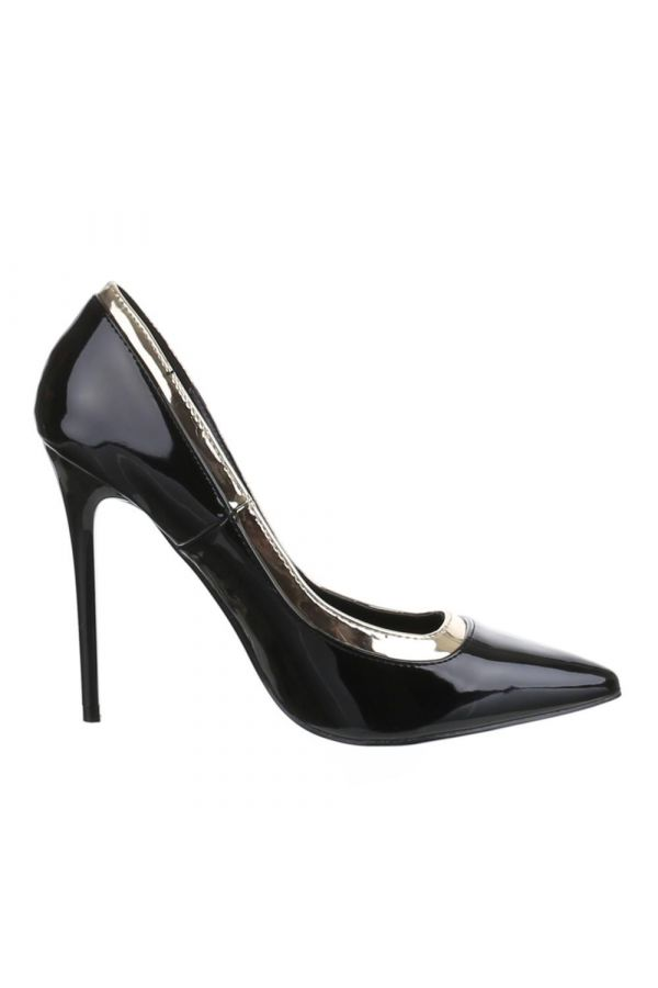 SW501546 PUMP POINTED PATENT BLACK