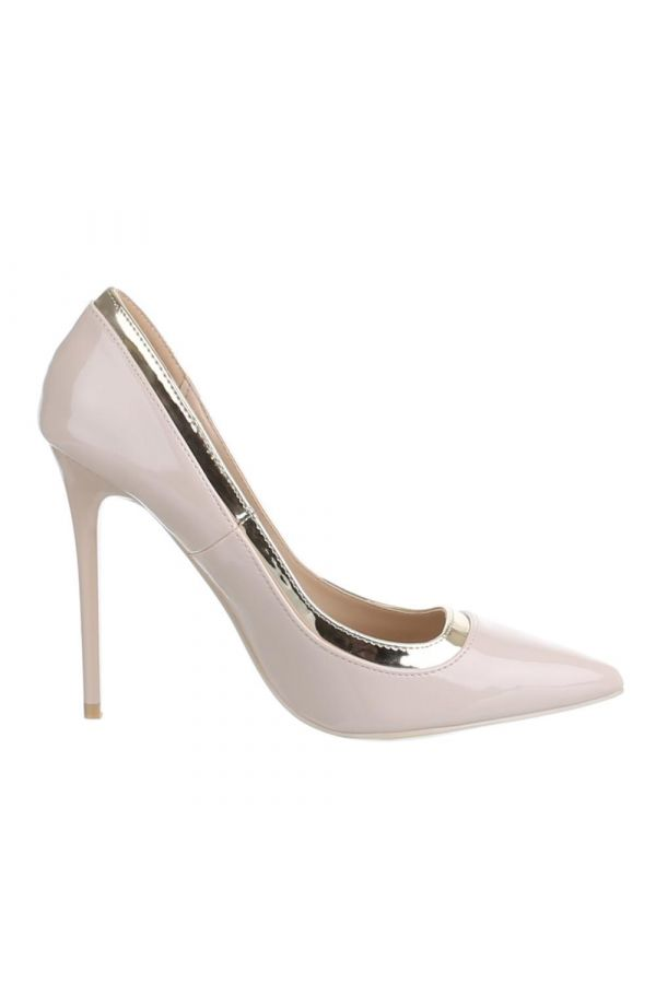SW501546 PUMP POINTED PATENT BEIGE