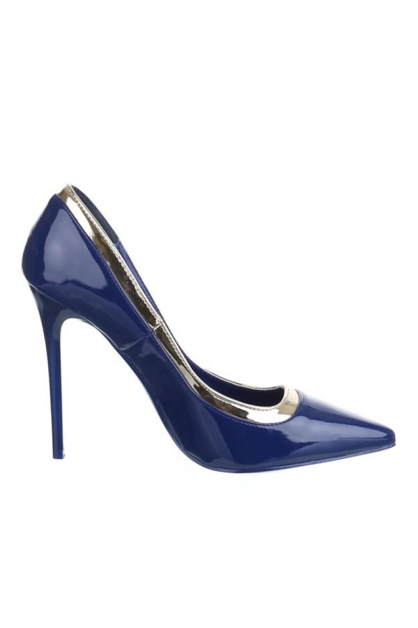 SW501546 PUMP POINTED PATENT BLUE
