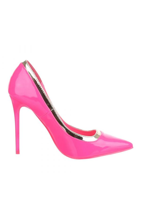 SW501546 PUMP POINTED PATENT PINK