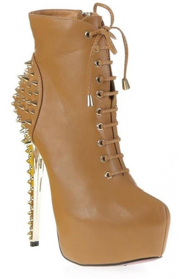 SP8582 ANKLE BOOT STUDS CAMEL